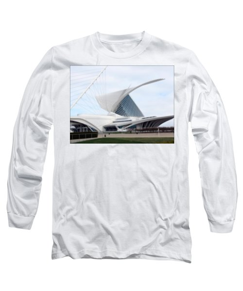 Long Sleeve T-Shirt featuring the photograph  Milwaukee Art Museum by Kay Novy