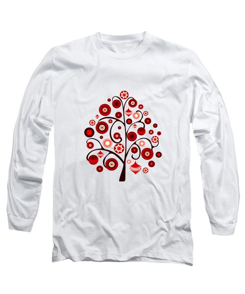 Red Ornaments Long Sleeve T-Shirt