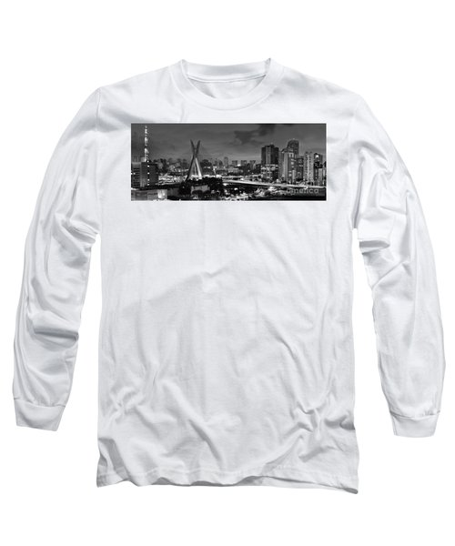 Sao Paulo Iconic Skyline - Cable-stayed Bridge - Ponte Estaiada Long Sleeve T-Shirt
