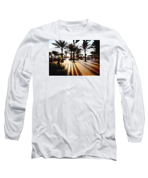 Long Sleeve T-Shirt featuring the photograph  Silhouettes by Marwan Khoury