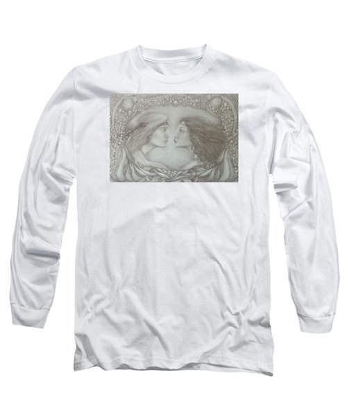 Spring Lovers With Snowdrops Long Sleeve T-Shirt by Rita Fetisov