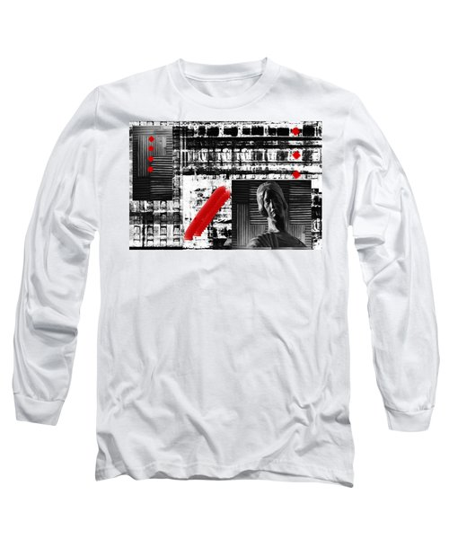 Where In The Riddle The Answer Hides And Red Long Sleeve T-Shirt by Danica Radman