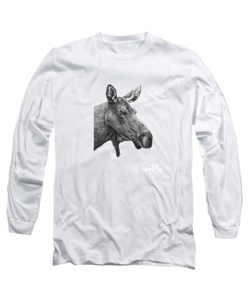 048 - Shelly The Moose Long Sleeve T-Shirt by Abbey Noelle