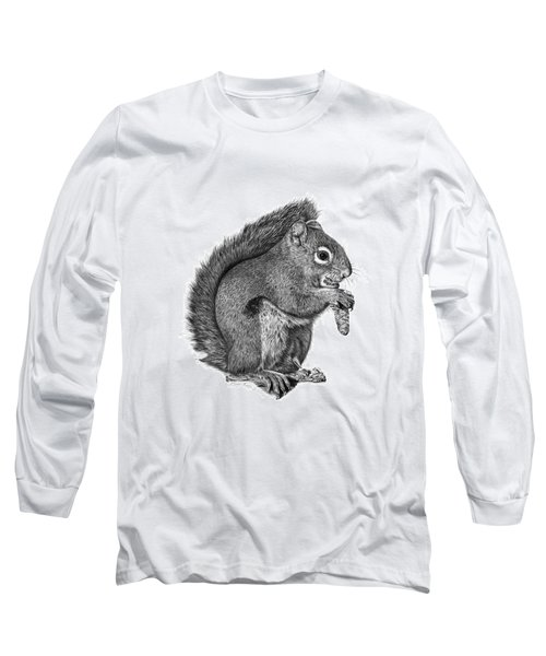 058 Sweeney The Squirrel Long Sleeve T-Shirt by Abbey Noelle