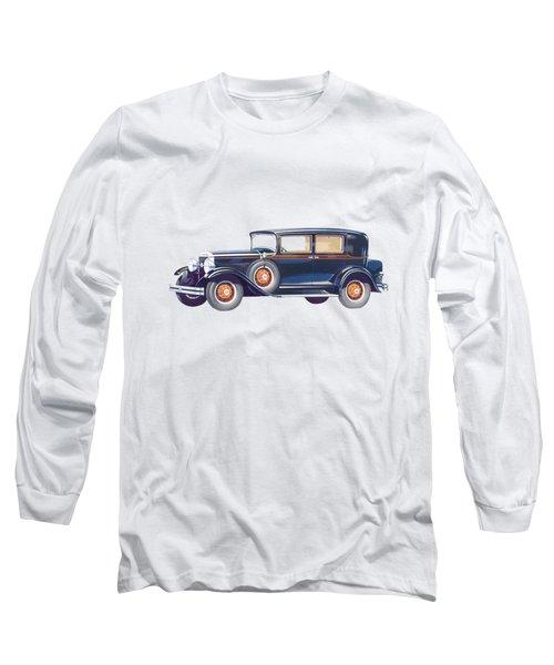 1929 Studebaker Commander Long Sleeve T-Shirt by John Haldane