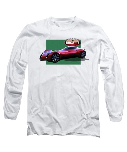 2025 Bugatti Aerolithe Concept With 3 D Badge  Long Sleeve T-Shirt by Serge Averbukh
