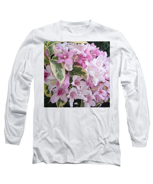 Pink Flowers Long Sleeve T-Shirt