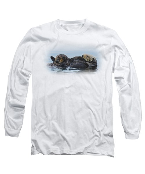A Mama Sea Otter And Her Babe Long Sleeve T-Shirt