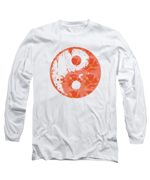 Abstract Yin And Yang Taijitu Symbol Long Sleeve T-Shirt