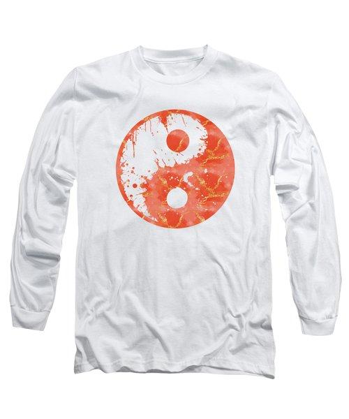 Abstract Yin And Yang Taijitu Symbol Long Sleeve T-Shirt