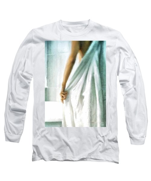 Long Sleeve T-Shirt featuring the digital art After The Bath by Gun Legler