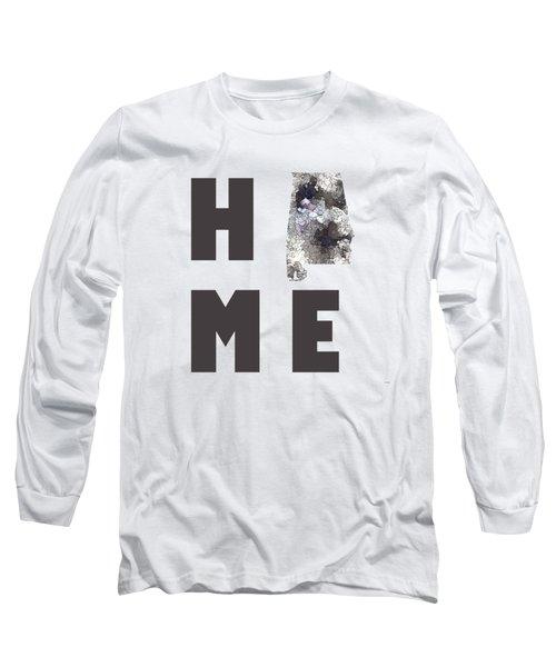 Alabama State Map  Long Sleeve T-Shirt