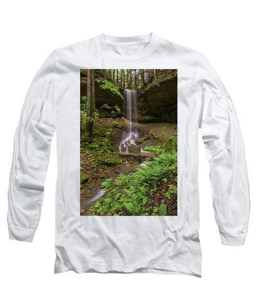 Alcorn Falls. Long Sleeve T-Shirt by Ulrich Burkhalter