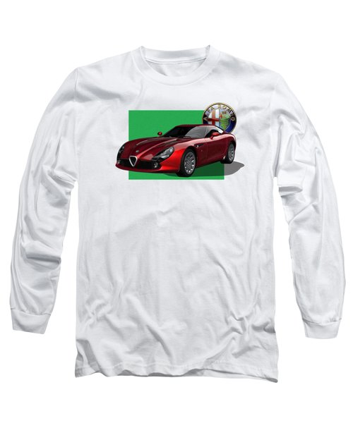Alfa Romeo Zagato  T Z 3  Stradale With 3 D Badge  Long Sleeve T-Shirt