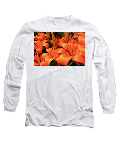 All Consuming Orange Long Sleeve T-Shirt