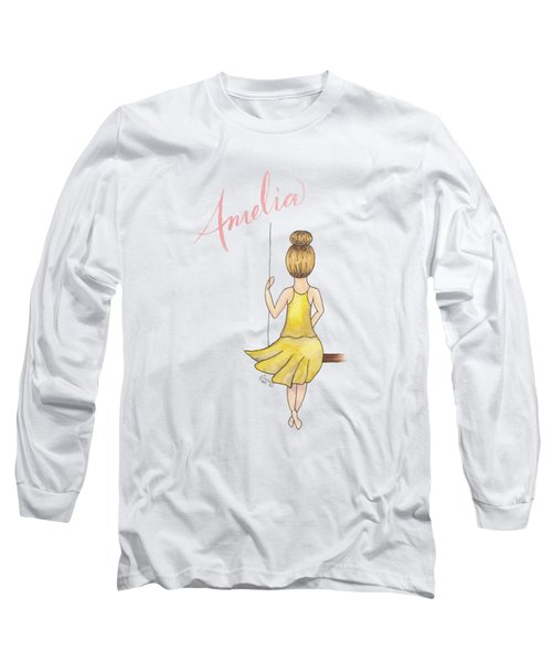 Amelia No Background Long Sleeve T-Shirt