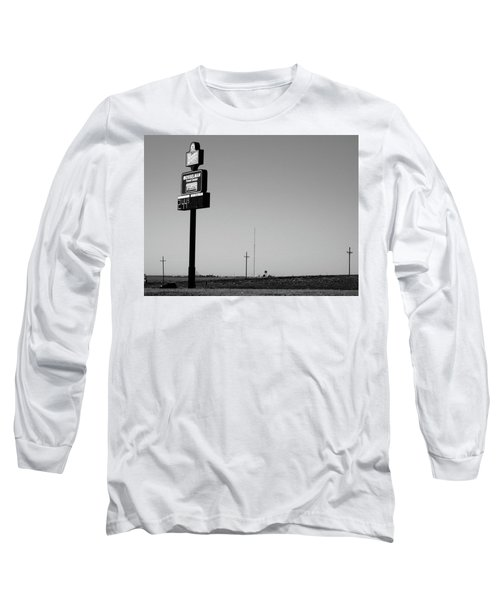 Long Sleeve T-Shirt featuring the photograph American Interstate - Kansas I-70 Bw 4 by Frank Romeo