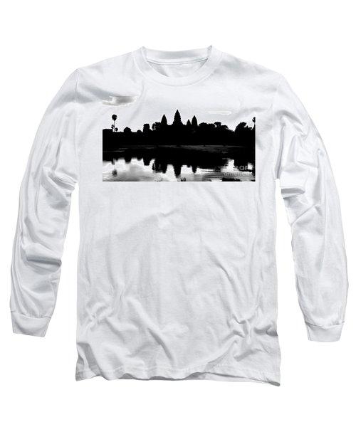 Angkor Wat Black  Long Sleeve T-Shirt