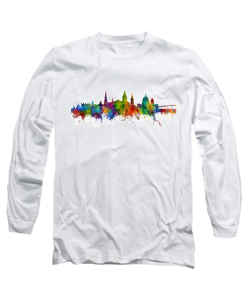 Long Sleeve T-Shirt featuring the digital art Annapolis Maryland Skyline by Michael Tompsett