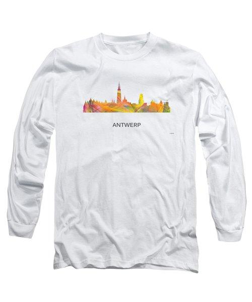 Antwerp Belgium Skyline Long Sleeve T-Shirt