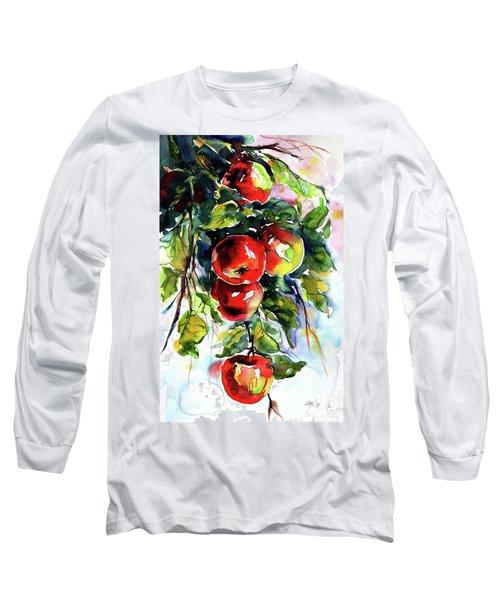 Apples Long Sleeve T-Shirt by Kovacs Anna Brigitta
