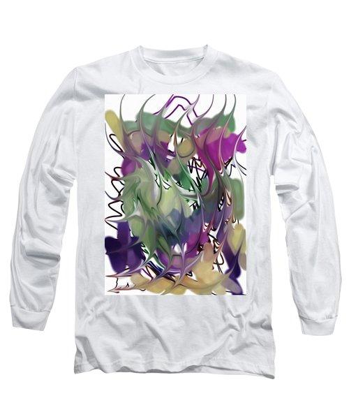 Art Abstract Long Sleeve T-Shirt by Sheila Mcdonald