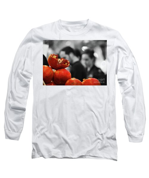 Long Sleeve T-Shirt featuring the photograph At The Market by Arik Baltinester