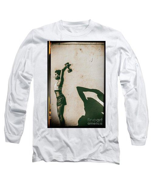 Athletic Woman Long Sleeve T-Shirt