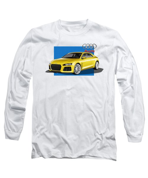 Audi Sport Quattro Concept With 3 D Badge  Long Sleeve T-Shirt by Serge Averbukh