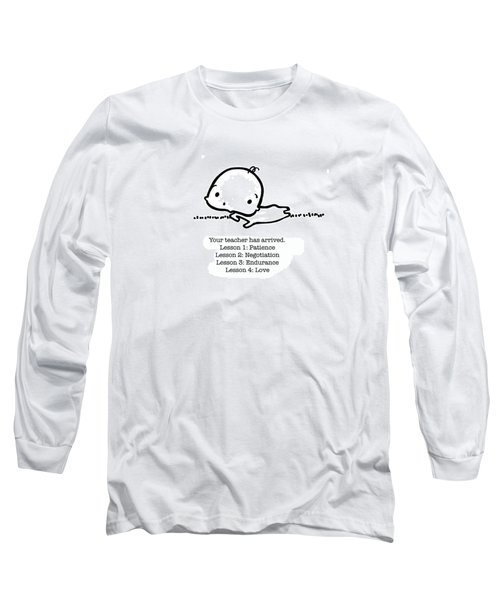 Long Sleeve T-Shirt featuring the drawing Baby Teacher by Leanne Wilkes