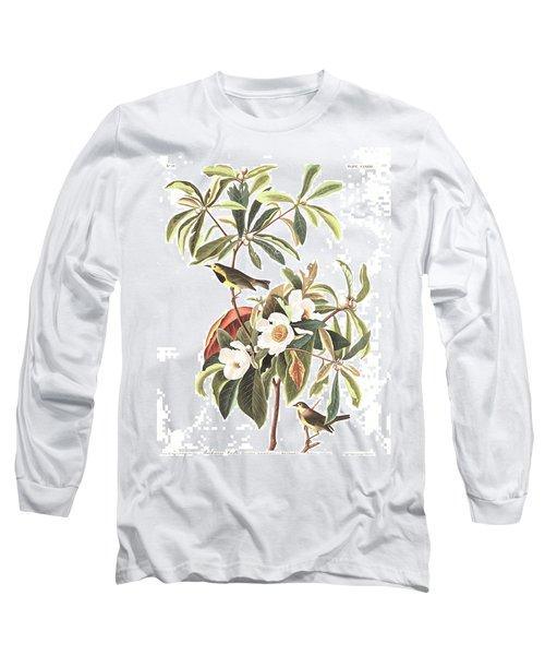 Bachman's Warbler  Long Sleeve T-Shirt by John James Audubon