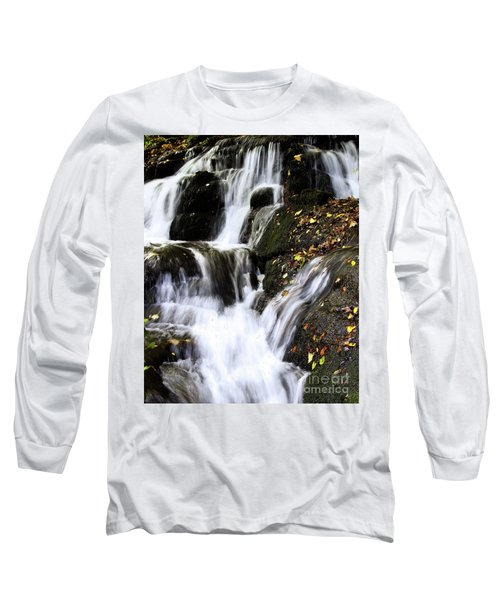 Long Sleeve T-Shirt featuring the photograph Badger Dingle Fall by Baggieoldboy
