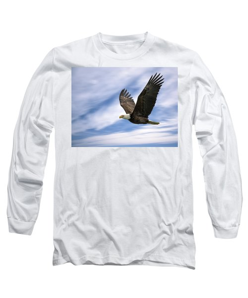 Bald Eagle - 365-12 Long Sleeve T-Shirt by Inge Riis McDonald