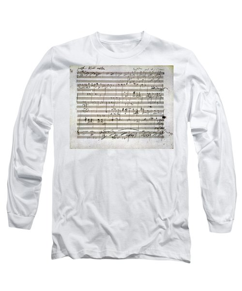 Beethoven Manuscript Long Sleeve T-Shirt