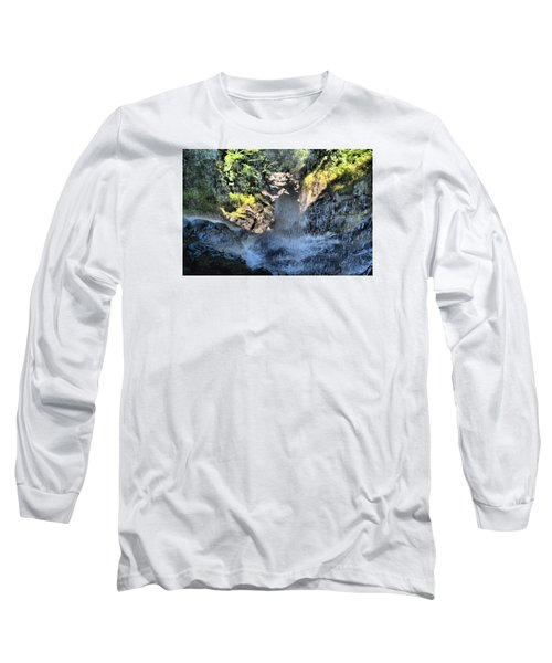 Behind The Falls Long Sleeve T-Shirt by James Potts