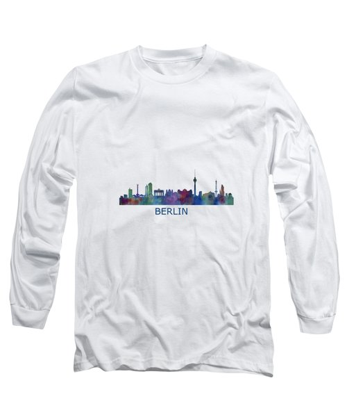 Berlin City Skyline Hq 1 Long Sleeve T-Shirt by HQ Photo