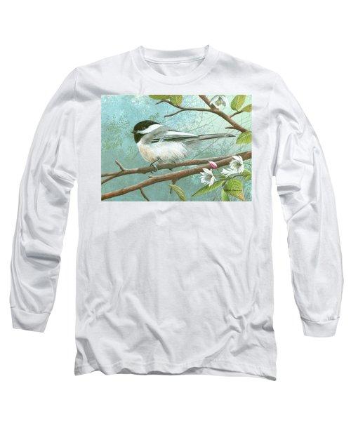Black Cap Chickadee Long Sleeve T-Shirt