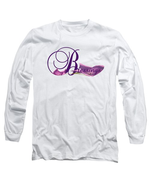 Long Sleeve T-Shirt featuring the digital art Blessings by Ann Lauwers