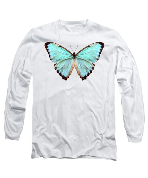 blue butterfly species Morpho portis thamyris Long Sleeve T-Shirt