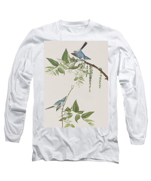 Blue Grey Flycatcher Long Sleeve T-Shirt