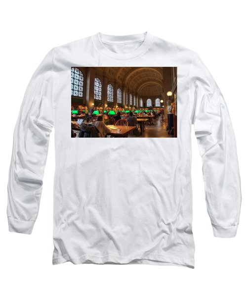 Long Sleeve T-Shirt featuring the photograph Boston Public Library by Joann Vitali