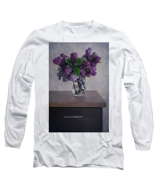 Long Sleeve T-Shirt featuring the photograph Bouquet Of Fresh Lilacs by Jaroslaw Blaminsky