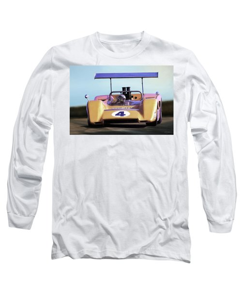 Long Sleeve T-Shirt featuring the digital art Bruce Mclaren M8b by Peter Chilelli