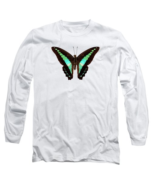 Butterfly Species Graphium Sarpedon Long Sleeve T-Shirt