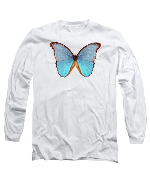 Butterfly Species Morpho Godarti Assarpai Long Sleeve T-Shirt