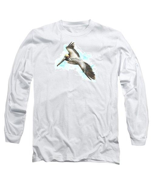 California Brown Pelican Long Sleeve T-Shirt