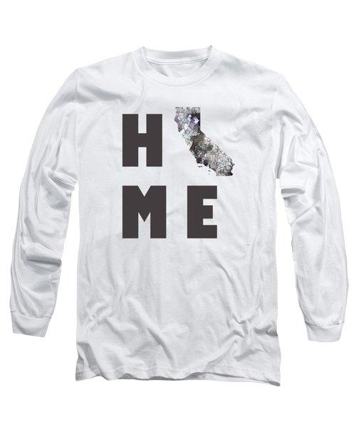 California  State Map Long Sleeve T-Shirt