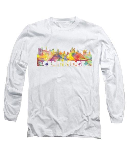Cambridge England Skyline Long Sleeve T-Shirt
