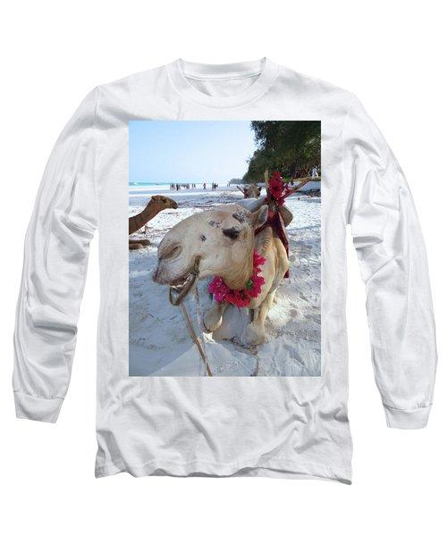 Camel On Beach Kenya Wedding3 Long Sleeve T-Shirt