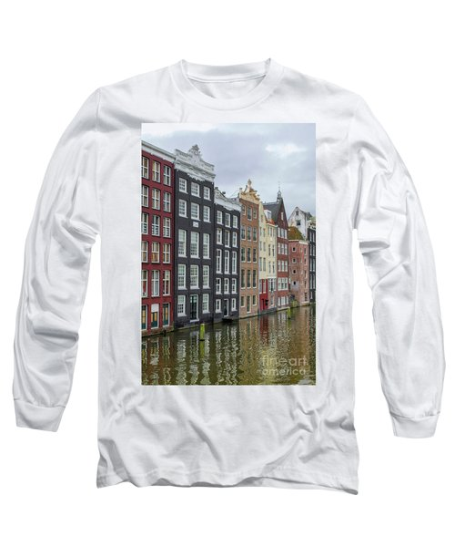 Canal Houses In Amsterdam Long Sleeve T-Shirt by Patricia Hofmeester